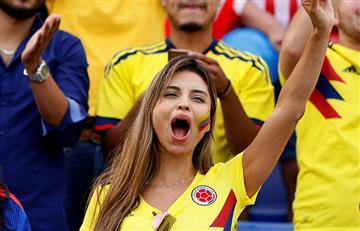 Los hinchas colombianos llenaron Alicante con su tradicional alegría
