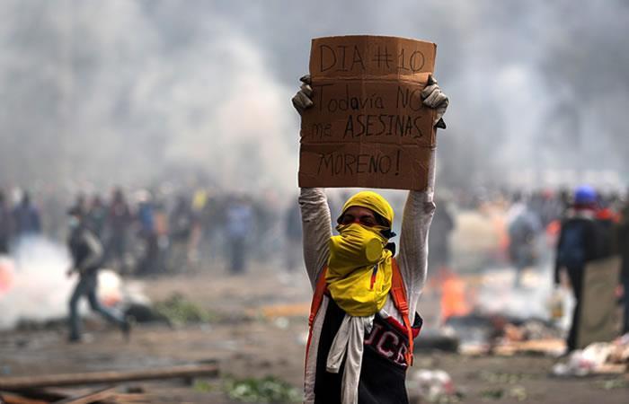 Enfrentamientos en Ecuador cumplen diez días. Foto: EFE