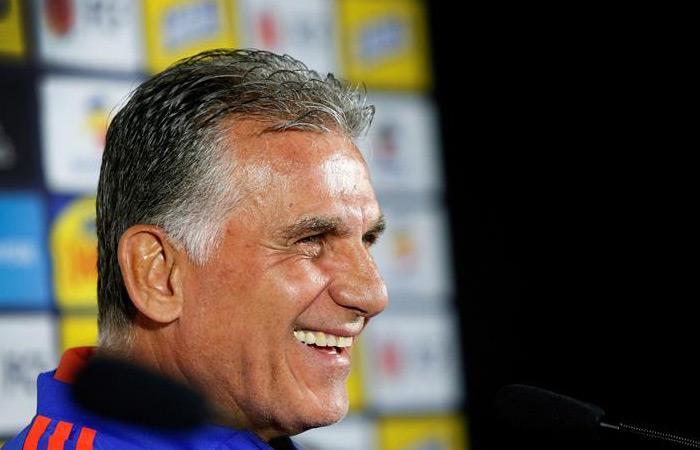Carlos Queiroz, DT de la Selección Colombia. Foto: EFE