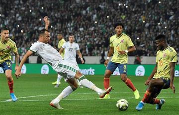 La pólvora de los argelinos detuvo el partido ante Colombia
