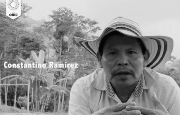 Constantino Ramírez, indígena asesinado. Foto: Twitter