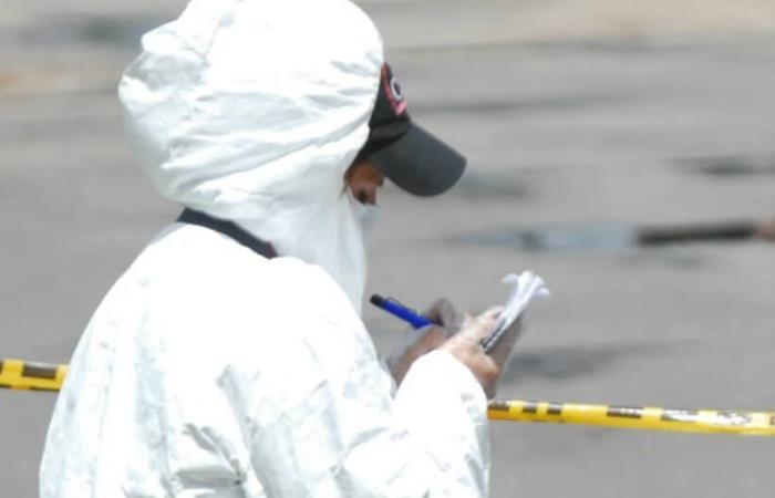 Agente del CTI en la escena del crimen. Foto: Twitter