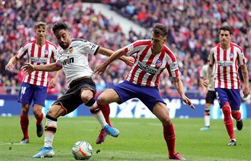 Buen partido de Santiago Arias en el partido entre Atlético de Madrid y Valencia