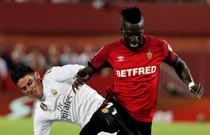 James Rodríguez jugó todo el partido ante Mallorca. Foto: EFE