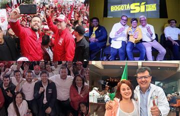 Candidatos en Bogotá cerraron sus campañas previo a las elecciones del 27 de octubre
