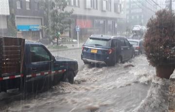 Norte y sur de Bogotá con 'trancones' por la lluvia