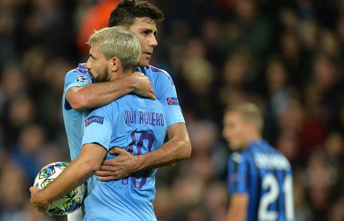 Resultados Champions League partido Manchester City vs. Atalanta Luis Muriel Pep Guardiola Goles Kun Aguero Raheem Sterling