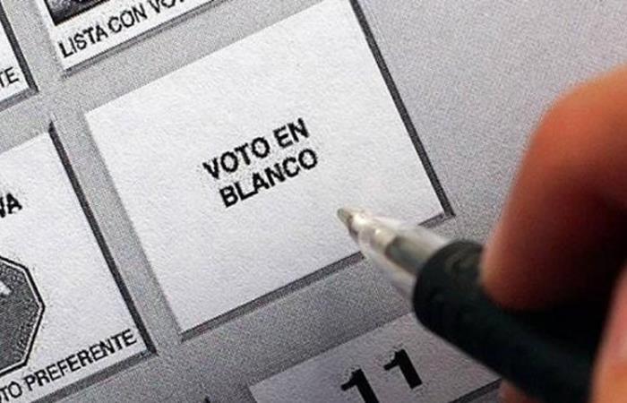 Voto en blanco Colombia