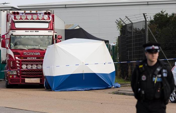 Camión Inglaterra con 39 personas muertas