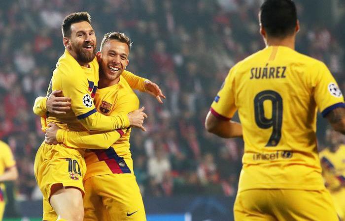 Resultado partido goles Champions League Slavia Praga Barcelona Lionel Messi