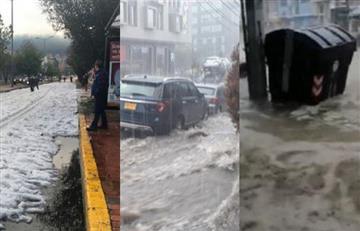 [Videos] Varios barrios afectados por las lluvias en Bogotá