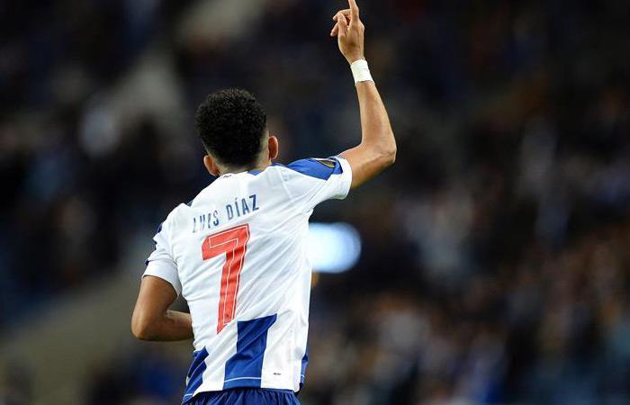 Luis Díaz anotó en el partido ante Rangers por Europa League. Foto: EFE