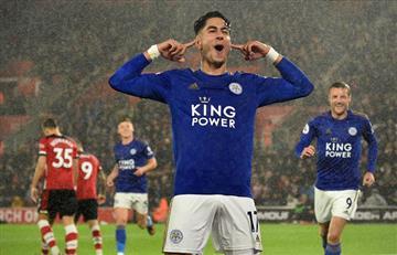 Leicester goleó 9-0 de visitante a Southampton y es segundo de la Premier League
