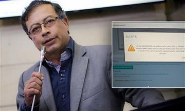 El senador Gustavo Petro denunció irregularidades con el software de la Registraduría