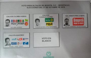 Candidatos a la Alcaldía de Bogotá ejercen su derecho al voto