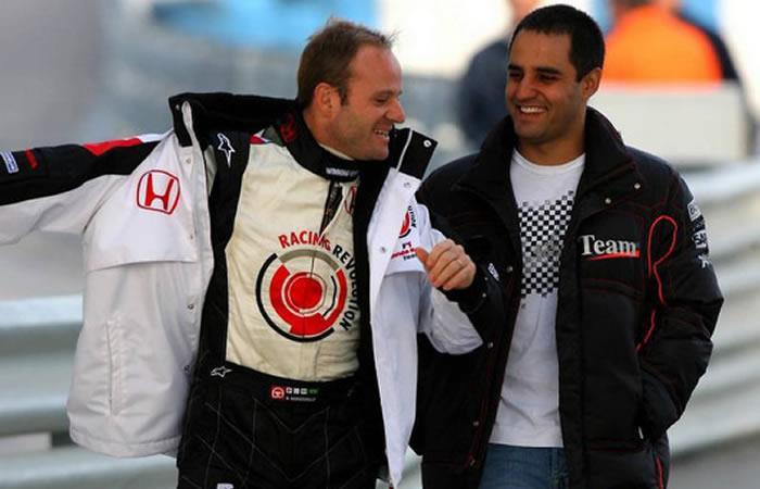 Juan Pablo Montoya se reencontró con Rubens Barrichello -. Foto: Twitter