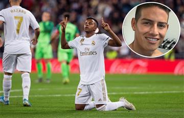 James cuidando a su bebé y Real Madrid goleando en España
