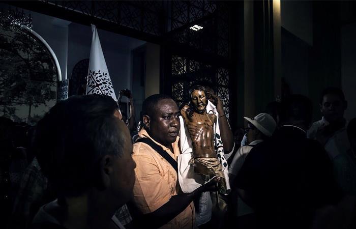 Cristo de Bojayá, símbolo de la resiliencia en el conflicto armado colombiano. Foto: Twitter