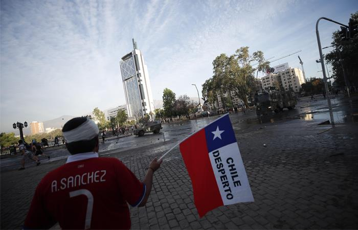 Chile ya cumple catorce días de protesta. Foto: EFE
