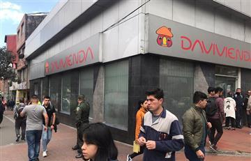 Tres sujetos armados robaron banco en Chapinero