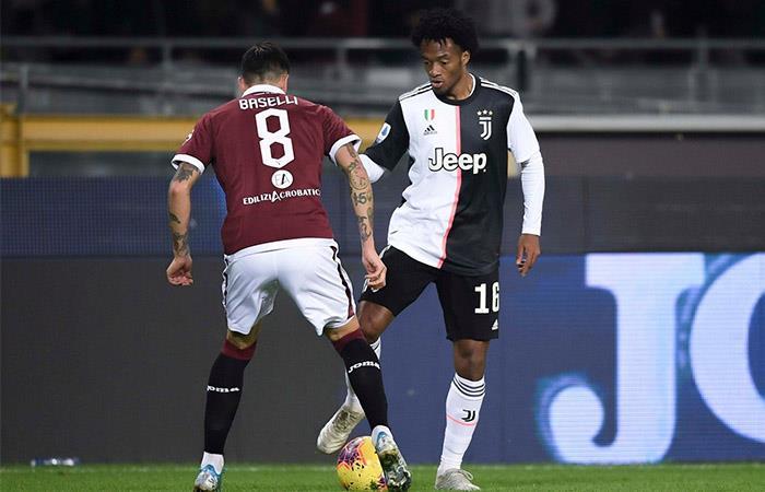 Cuadrado sigue realizando una buena labor en la defensa de Juventus. Foto: Twitter