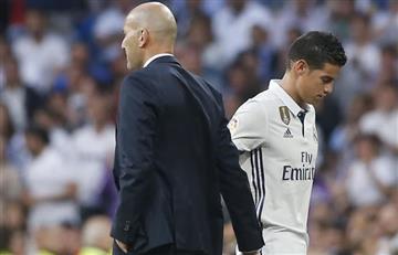 El inesperado gesto de Zidane a favor de James