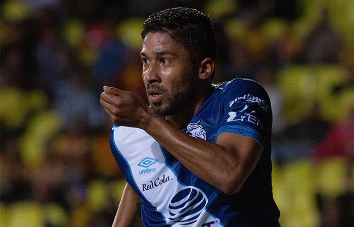 Christian Marrugo anotó gol en la derrota de Puebla. Foto: EFE