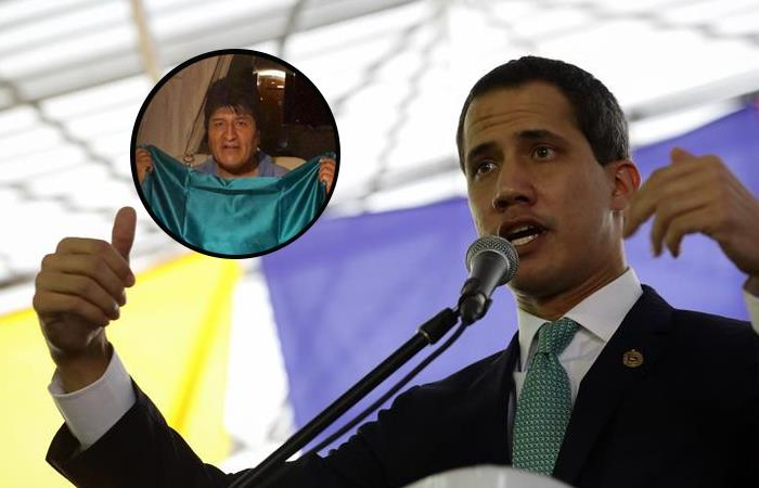 Juan Guaidó, presidente interino de Venezuela (der). Foto: EFE