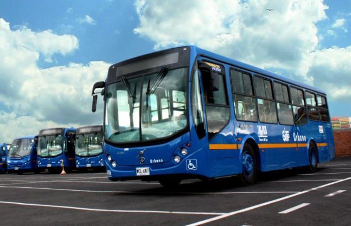 Uno de los buses más modernos del Sistema Integrado de Transporte Público de Bogotá (SITP). Foto: Twitter