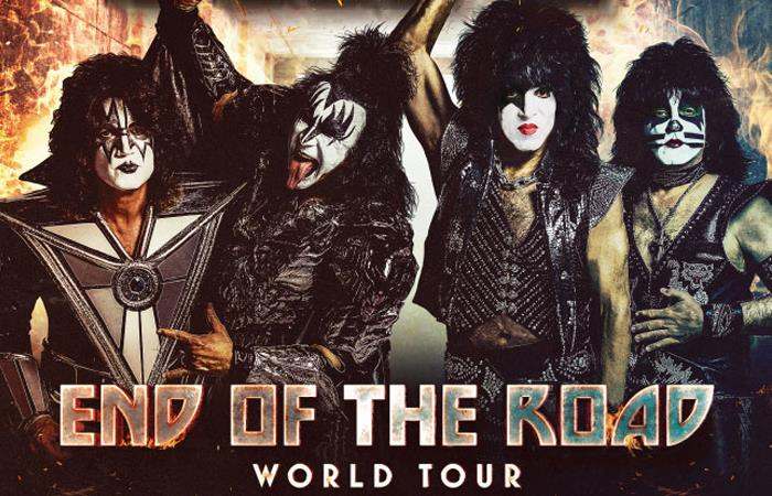 """End Of The Road World Tour"" es la gira de depedida de Kiss. Foto: Twitter"