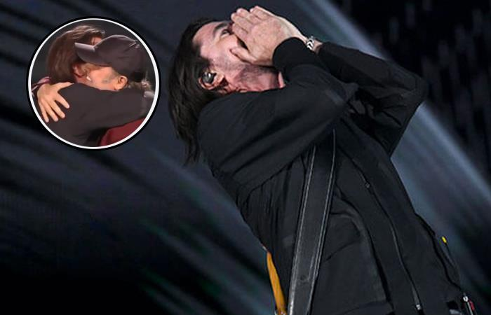 Homenaje Metallica a Juanes. Foto: AFP