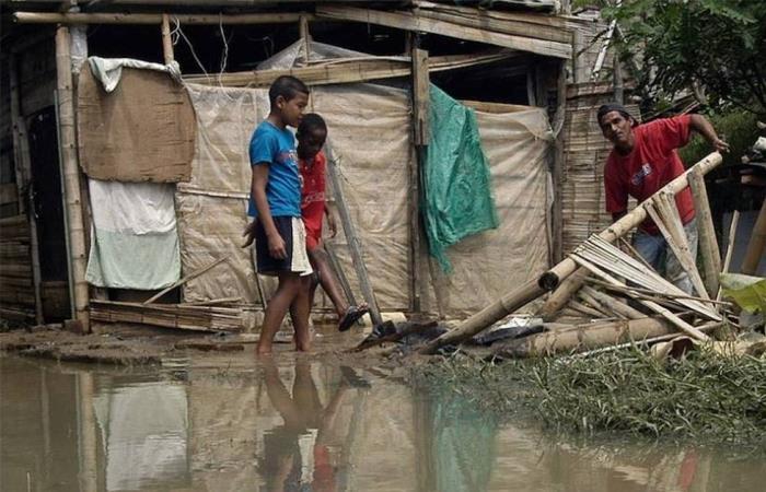 Damnificados por la lluvia en Colombia. Foto: Twitter