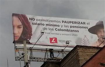 """Vallas del Partido Liberal """"en contra"""" del Gobierno Duque causa polémica en redes sociales"""