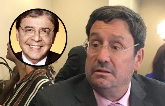Carlos Holmes Trujillo (izq), ministro de Defensa, y Francisco Santos (der), embajador de Colombia en EE.UU. Foto: Twitter