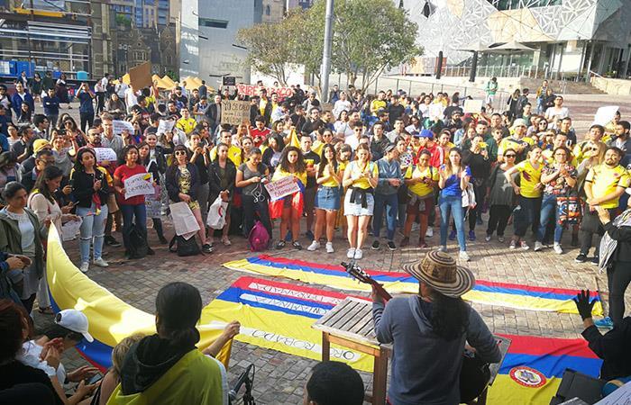 Paro Nacional Movilizaciones Melbourne Australia