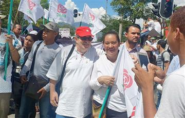 [VIDEO] 'Timochenko' se unió a las manifestaciones del Paro Nacional en Medellín