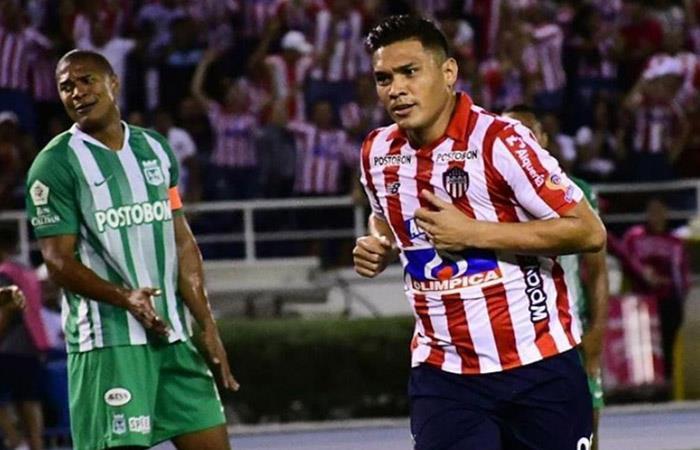 'Teo' Gutiérrez anotó dos goles ante Atlético Nacional. Foto: Instagram