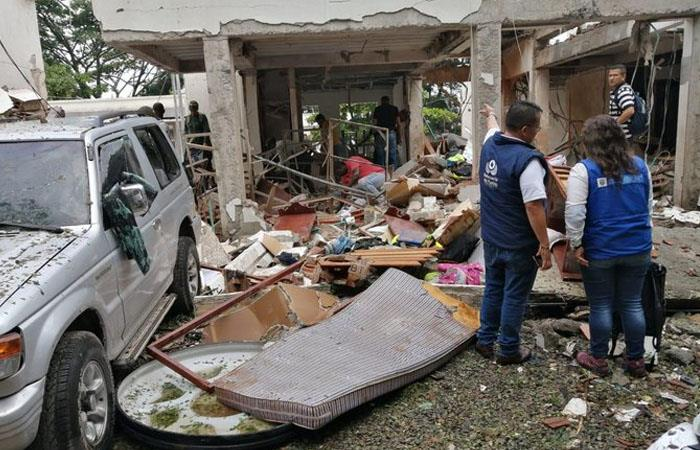 Se reportaron graves daños en cerca de 4 viviendas en Santander de Quilichao. Foto: Twitter