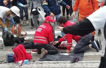 [VIDEO] Joven fue herido por lata que lanzó el Esmad en el centro de Bogotá