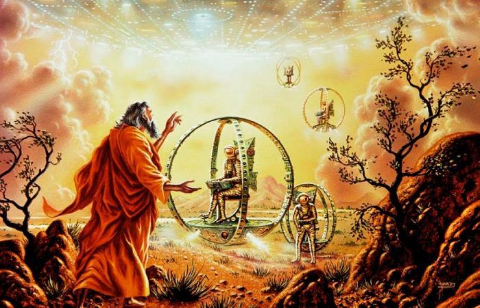 El profeta Ezequiel habría tenido un encuentro cercano con un Ovni. Foto: Twitter