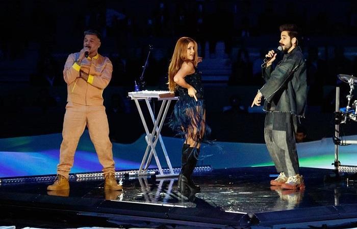 Presentación Shakira, Camilo y Pedro Capó Copa Davis