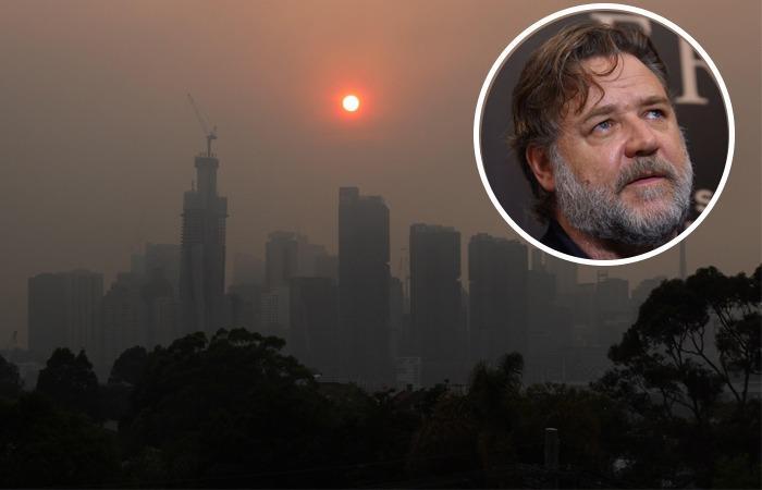 Russell Crowe mostró en sus redes sociales las consecuencias de los incendios. Foto: EFE
