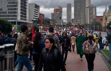 Así avanza el día de paro en Bogotá