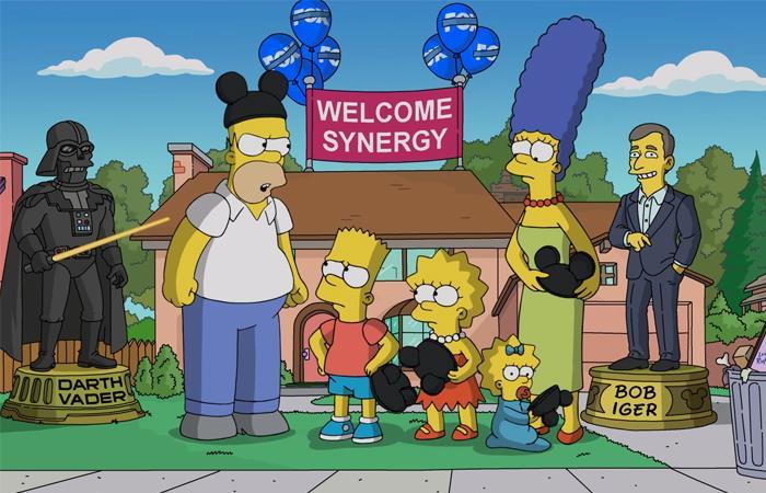 Los Simpson han ironizado sobre la compra de Fox por parte de Disney. Foto: Twitter