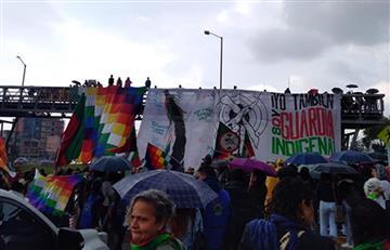 Guardia indígena se suma al Paro Nacional y llega a Bogotá