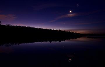 Así se vivió la triple conjunción: Luna, Venus y Júpiter