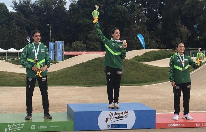 Mariana Pajón medalla oro Juegos Nacionales Carlos Ramírez medalla oro BMX