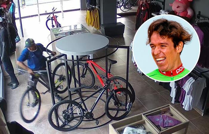 Robo bicicleta Rigoberto Urán tienda Cali