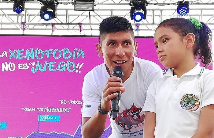 Nairo Quintana campaña niños migrantes venezolanos gran fondo nairo