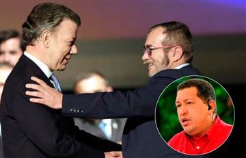 Santos y 'Timochenko' destacan el papel de Chávez en el proceso paz